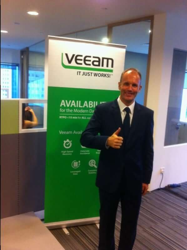 Singapore Magician at Veeam Software event